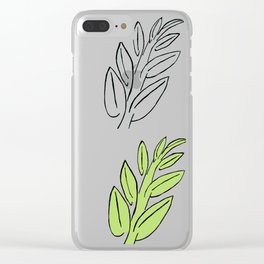 4 Jade Leaves Clear iPhone Case