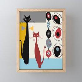 Mid-Century Modern Art Cats Framed Mini Art Print