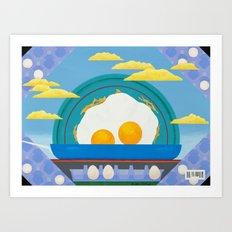Sunny Up (On The Range) Art Print