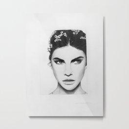 Barbara Palvin Portrait Metal Print