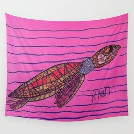 Loggerhead Turtle Wall Tapestry