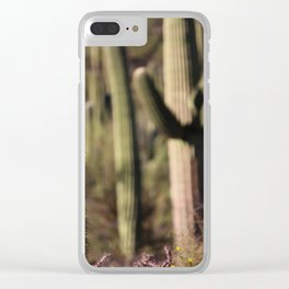 Cactus in Saguaro National Park Clear iPhone Case