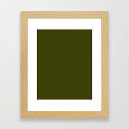 Dark olive Framed Art Print