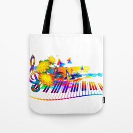 Colorful music instruments design Tote Bag