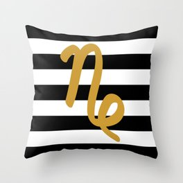 Capricorn Stripes Throw Pillow