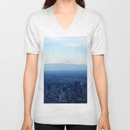 Fuji in the Distance Unisex V-Neck