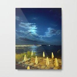 Silent Night in Monaco Metal Print