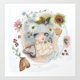 Pumpkin Blue Pixie Art Print