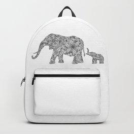 Elephant Mom & Baby Backpack