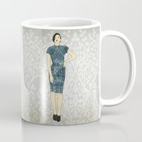 olivia joy Mugs featuring Olivia by Aquamarine Studio