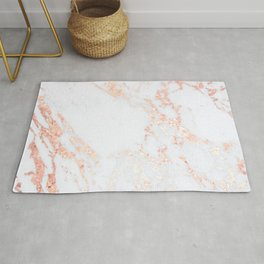 Rose Gold Blush Marble Rug