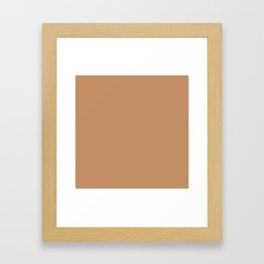 "Brown camel ""Butterum"" Pantone color Framed Art Print"