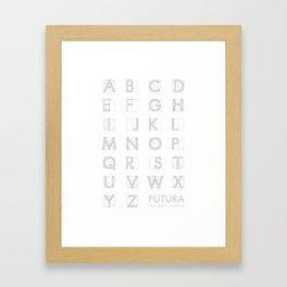 Futura White Framed Art Print