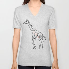I love you as high as I can reach Unisex V-Neck