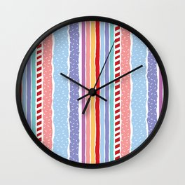 Candy madness Wall Clock
