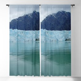 Alaska Blue Iceberg Pristine Wilderness Blackout Curtain