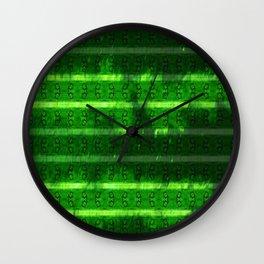 Metal Watermelon Rind Wall Clock