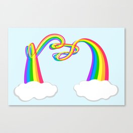 Spaghetti Rainbow Canvas Print