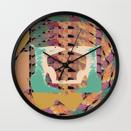 Two Foxes Looking into Each Other's Eyes 02 Wall Clock