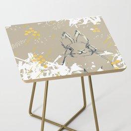 Bunny Portrait M+M Latte by Friztin Side Table