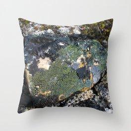 Darkened Rock Throw Pillow