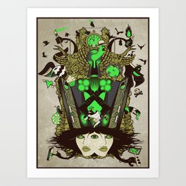 Molly Can't Make Up Her Mind 2.0 Art Print