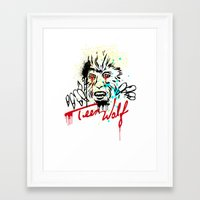 teen wolf Framed Art Prints featuring Teen Wolf  by DIVIDUS