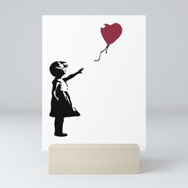 Girl With Red Balloon, Banksy, Streetart Street Art, Grafitti, Artwork, Design For Men, Women, Kids Mini Art Print