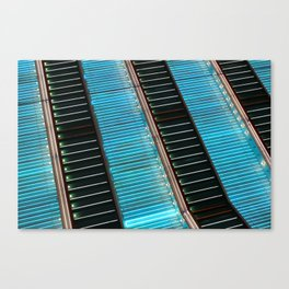 Neon Zoom Canvas Print
