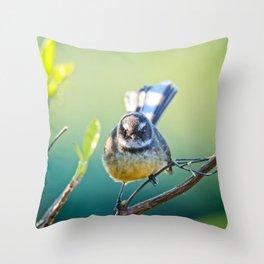 Fantail Fan Throw Pillow