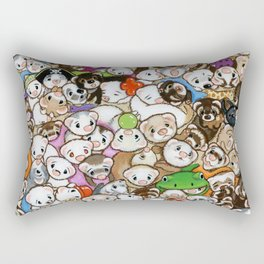 One Hundred Million Ferrets Rectangular Pillow