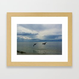 wingmen and landing gear Framed Art Print