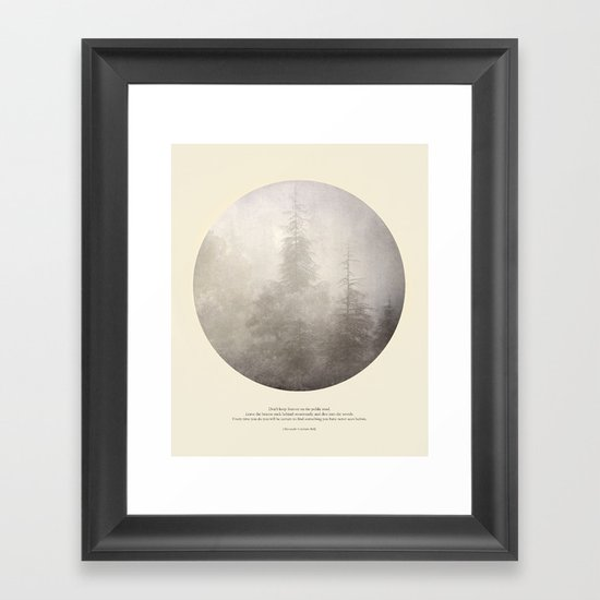 love the woods Framed Art Print