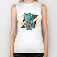 dbz Biker Tanks featuring DBZ - A Hero by Mr. Stonebanks