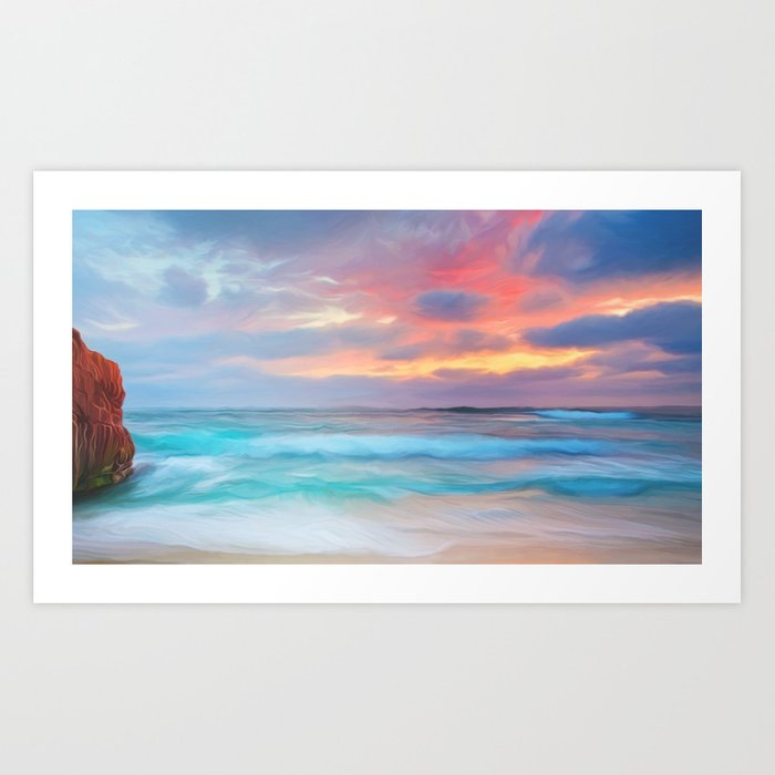 Blue sea Art Print