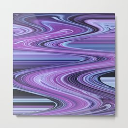 Traveling Down the Purple River Metal Print