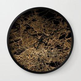 Paris map lights Wall Clock