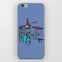 europe iPhone & iPod Skins featuring europe by PINT GRAPHICS