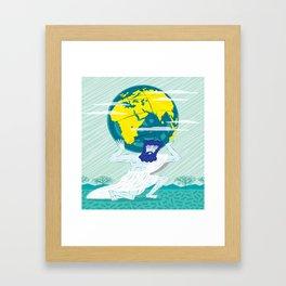 GREEK GODZ ~ ATLAS  Framed Art Print