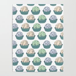 Candy chocolate truffles sketch Poster