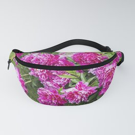 Hot Pink Peony with Raindrops Fanny Pack