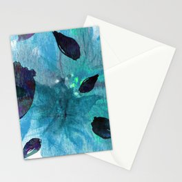 Watercolor Teal Mirage Stationery Cards