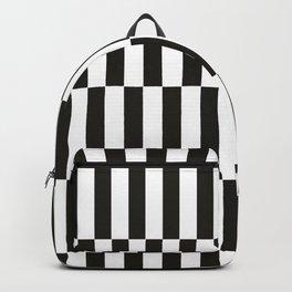 Black checkers scandinavian design Backpack