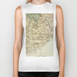 Vintage and Retro Map of Southern Ireland Biker Tank