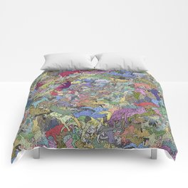 Colorful Flying Cats Comforters