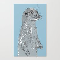 otter Canvas Prints featuring Otter by caseysplace