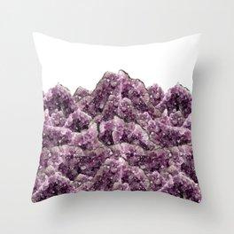 Amethyst Landscape - Gemstone - Geodes Crystals Throw Pillow