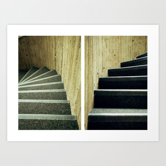 up and down Art Print