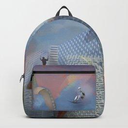 Dream Gliding Cityscape Flash Backpack