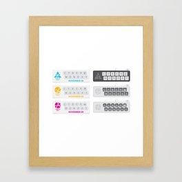 November Cyber Monday Keyboard Framed Art Print